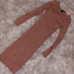 Forever 21 rose bodycon dress